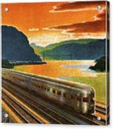 Highlands Of Hudson, Railway, Train Acrylic Print