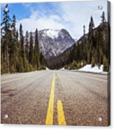 Highway 20 On Rainy Pass In North Cascades National Park Acrylic Print