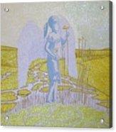 Highway Angel Landscape Bright Acrylic Print