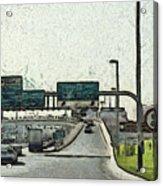 Highway In Dubai Acrylic Print
