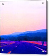 Highway In The Hills Sat Ae 2 Acrylic Print