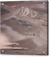 Hiker - Great Sand Dunes - Colorado Acrylic Print