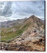 Hikers On Columbine Pass - Weminuche Wilderness - Colorado Acrylic Print