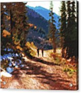 Hiking Couple In The Wasatch Acrylic Print