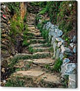 Hiking In Cinque Terre Italy Acrylic Print