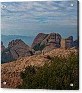 Hiking In Montserrat Spain Acrylic Print