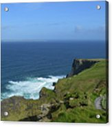 Hiking Path Along The Top Of The Cliff's Of Moher Acrylic Print