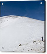 Hiking To Summit Of Mount Elbert Colorado In Winter Acrylic Print
