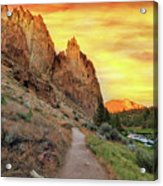 Hiking Trail At Smith Rock State Park Acrylic Print