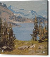 Hiking Yosemite Acrylic Print