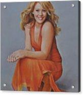 Hilary Duff Acrylic Print