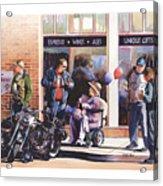 Hilda Hogs And Harleys Acrylic Print