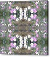 Hill Of Flowers Double Acrylic Print