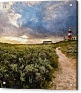 Hill Road To A Lighthouse H B Acrylic Print