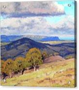 Hill Shadows Kanimbla  Acrylic Print