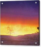 Hill Sunset Acrylic Print