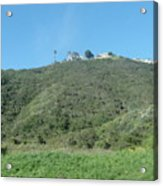 Hill With A House Acrylic Print
