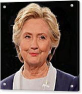 Hillary At The Debate Acrylic Print