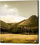Hills And Fields Of Trial Harbour Acrylic Print
