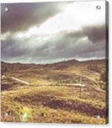 Hills And Outback Tracks Acrylic Print