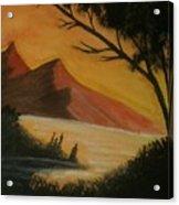Hills During Sunset Acrylic Print