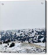 Hills In Fog Acrylic Print