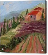 Hills Of Lavender Acrylic Print