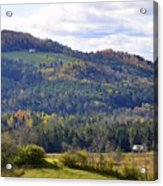 Hills Of Vermont Acrylic Print