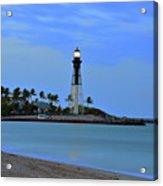 Hillsboro Lighthouse Twilight Time Acrylic Print