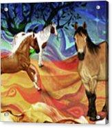 Hillside Horses Acrylic Print