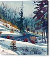 Hillside In Winter Acrylic Print