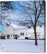 Hilltip Farm In Snow Acrylic Print