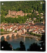 Hilltop View - Heidelberg Castle Acrylic Print by Greg Dale