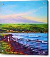 Hilo Bay Net Fisherman Acrylic Print