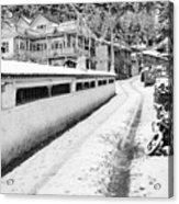 Himalayan Winter Scene Acrylic Print