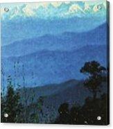 Himalayas In The Evening 1875 Vasily Vereshchagin Acrylic Print