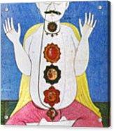 Hindu Chakras Wheels Acrylic Print