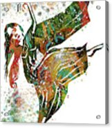 Hindu Dancer Acrylic Print