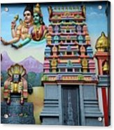 Hindu Deities On Wall Mural Of Sri Senpaga Vinayagar Tamil Temple Ceylon Rd Singapore Acrylic Print