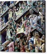 Hindu Temple In Singapore Acrylic Print