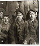 Hine: Breaker Boys, 1911 Acrylic Print