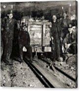 Hine: Coal Miners, 1911 Acrylic Print