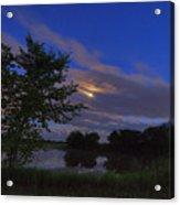 Hinkley Pond Moonset Acrylic Print