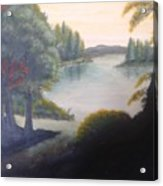 Hint Of A Lake Acrylic Print