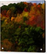 Hint Of Fall Color Painting Acrylic Print