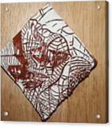 Hints Of Life - Tile Acrylic Print