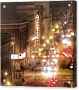 Hippodrome In Baltimore At Night Acrylic Print
