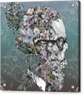 Hipster Floral Skull 2 Acrylic Print