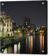 Hiroshima At Night Acrylic Print