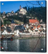 Hirschhorn Village On The Neckar Acrylic Print